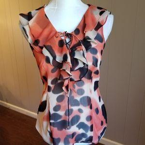 Beautiful animal print sleeveless blouse